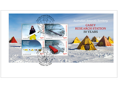 AUSTRALIAN ANTARCTIC TERRITORY 2019 Casey Research Station: 50 Years fdc sheet