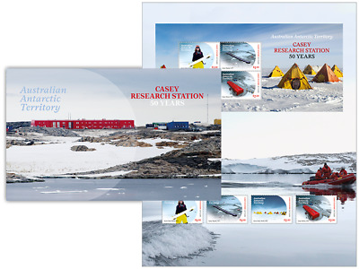 AUSTRALIAN ANTARCTIC TERRITORY 2019 Casey Research Station: 50 Years stamp pack