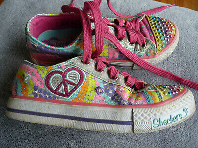 MÄDCHEN SKECHERS TWINKLE Toes Sneakers Turnschuh Gr. 35 5qpxH