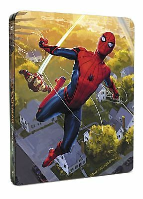 Spider-Man Homecoming 4K Ultra Hd + 3D + Blu-Ray Steelbook Brand New & Sealed