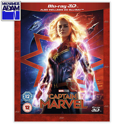 CAPTAIN MARVEL Blu-ray 3D + 2D (REGION-FREE)