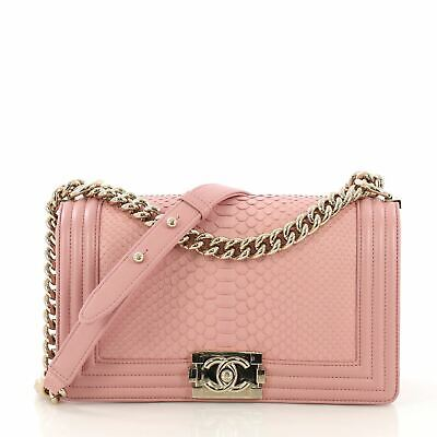 2bd5aa46a564f7 CHANEL CHAIN HANDLE Boy Flap Bag Quilted Calfskin Small - $6,155.00 ...