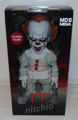 "Mezco Designer Series MDS Mega Scale 15"" Talking IT PENNYWISE Doll"