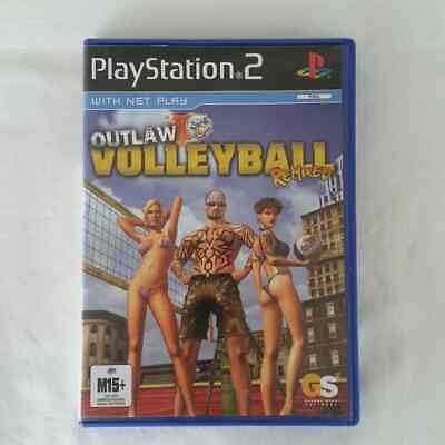 Outlaw Volleyball Remixed PS2 Game Sony PlayStation 2 Complete With Manual