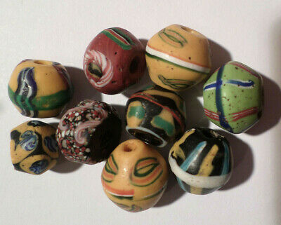 Alte venezianische Glasperlen, King Beads, Old Venetian Trade Beads, King Beads