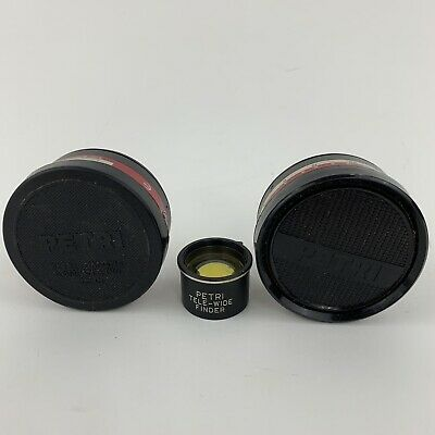 Petri Aux Lens Set Telephoto Wide Angle and Tele Wide Finder Set Of 3 Lenses