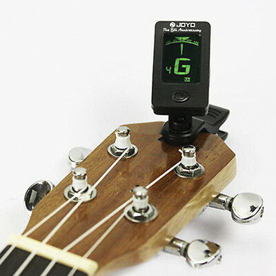 For Chromatic Acoustic Guitar Bass Violin Ukulele Electric Clip-On Digital Tuner