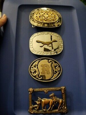 Lot of 4 Vintage Belt Buckles