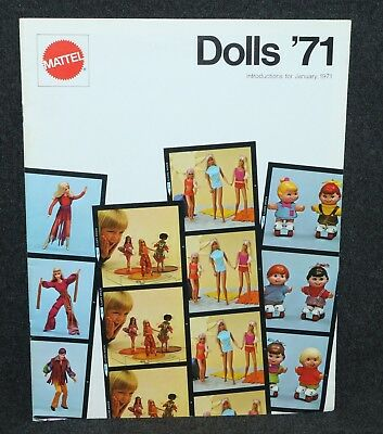 Mattel 1971 Toy Fair Dealer Catalog Dolls Barbie TNT No Bangs Francie