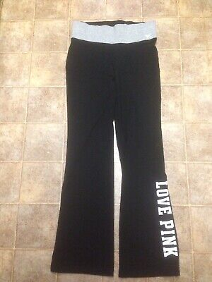 075ac482a897c PINK VICTORIAS SECRET Leggings black gray yoga Workout Pants Size ...