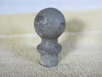 Vintage Metal Gate Post Finial, Rustic, Old House Salvage