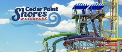 Cedar Point Shores Waterpark 2 E-Tickets Delivered instantly $49.99