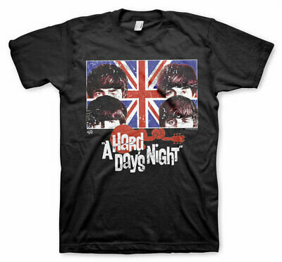 Official Licensed A Hard Days Night Men's T-Shirt S-XXL Sizes (Black)