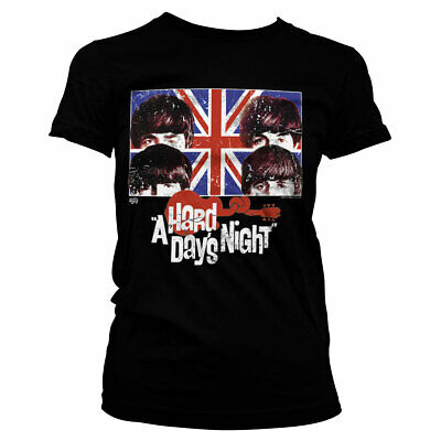 Official Licensed A Hard Days Night Girly T-Shirt S-XXL Sizes (Black)