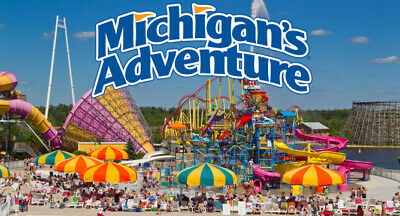 Michigan's Adventure - 1 Day General Day Admission (Total of 2 e-tickets)