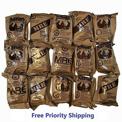 MRE US MILITARY Case A/B 5 Random Draw - MEALS READY TO EAT - insp date 07-2021