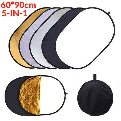 Photography 5in1 Light Collapsible Portable Photo Reflector 60x90cm Diffuser