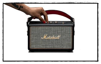 Marshall Kilburn Portable Bluetooth Active Wireless Speaker Black