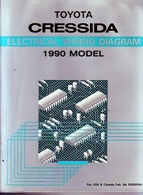 1990 toyota cressida brochure $15 00 picclick 1987 Toyota Land Cruiser Wiring Diagrams 1990 toyota cressida shop service repair manual electrical wire wiring diagram