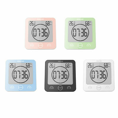 Bathroom Timer Wall Clock Waterproof Digital Humidity Thermometer Timing Clocks