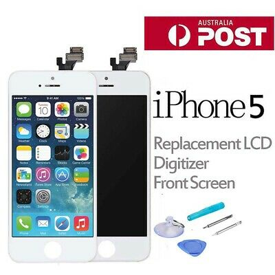 Replacement LCD Digitizer Front Screen Assembly Panel Tools For iPhone 5 White