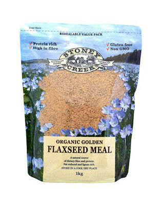 Stoney Creek Organic Golden Flaxseed Meal 1Kg High In Fibre
