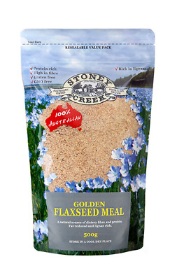 Stoney Creek Golden Flaxseed Meal 500G High In Fibre - Protein Rich