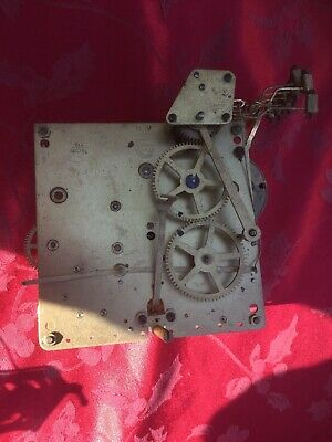Haller 2 Train 8 Gong Clock  Movement For Spares Or Repair