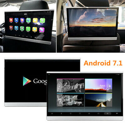 "2x 12.5"" Android 7.1 HD Car Headrest Monitor 8-Core 1.5GHz Speaker Wifi 3G/4G FM"
