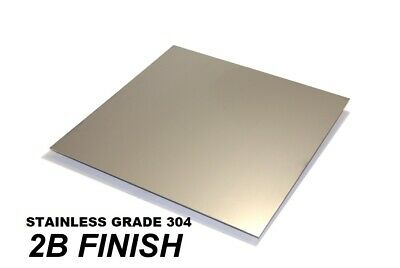 Stainless steel 304 sheet - (0.5, 0.7, 1.2, 2, 3 & 4)mm thick -  MANY  SIZES