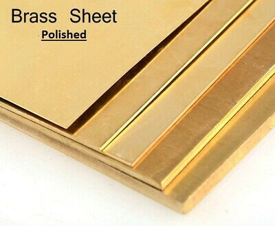 0.9mm POLISHED BRASS SHEET -   various sizes