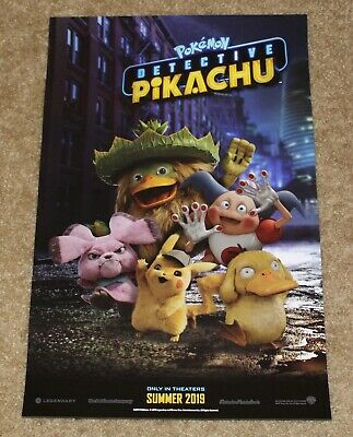 Target Pokemon Detective Pikachu Summer 2019 Promo Movie Double~Sided Poster