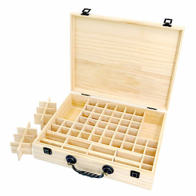 70 Slot Aromatherapy Essential Oil Storage Box Wooden Case Container Holder OZ