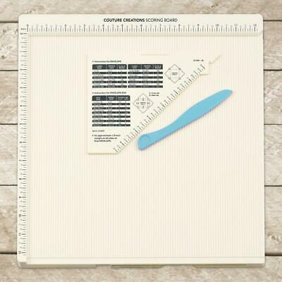 "Couture Creations 12 x 12"" Scoring Score Board + bone folder & guide Envelope"