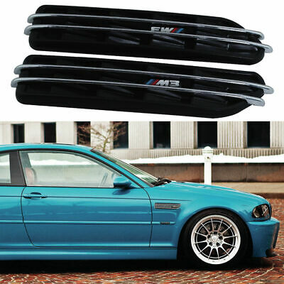 For BMW 3 Series E36 E46 E90 Side Marker Fender Air Flow Vents M3 Grille Grills