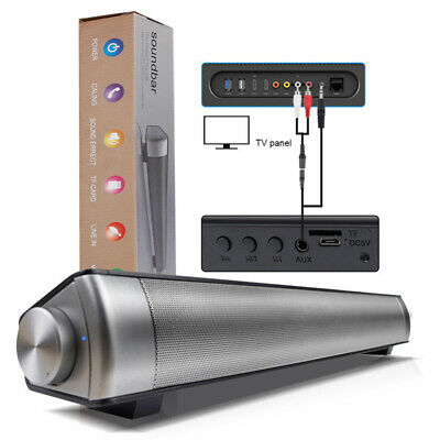 A Aura TV Home Theater Soundbar Bluetooth Sound Bar Speaker Subwoofer