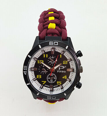 Paracord Watch with The Royal Warwickshire Colours a Great Gift