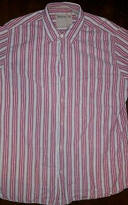 BNWT MENS DESIGNER Timberland Striped Pollo Shirt Uk Small
