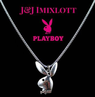 Genuine Playboy Bunny 50cm Necklace Hypoallergenic TITANIUM Dangle Jewellery
