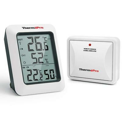 ThermoPro TP60S Digital Wireless Remote Thermo-hygrometer, Indoor Outdoor...