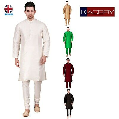 Men's Indian  Dupin Silk Kurta Pajama  Sherwani Traditional Outfit  GR810