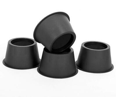 Round Circular Bed Risers Table Furniture lifts Heavy Duty Set of 4 Pieces,...