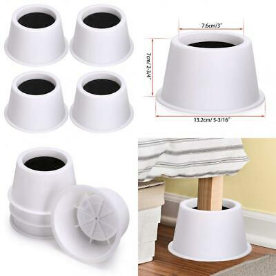 BTSKY Set of 4 Pieces 7.6cm Round Bed Risers Chair 3 Inches, Black