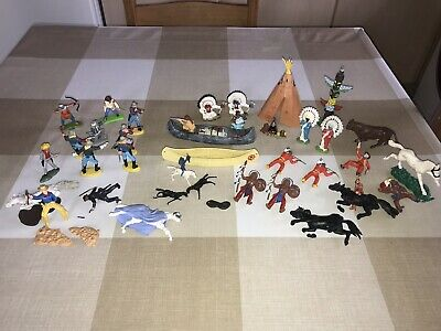 VINTAGE WILD WEST Toy Soldiers / Crescent - Kellog - Lone Star