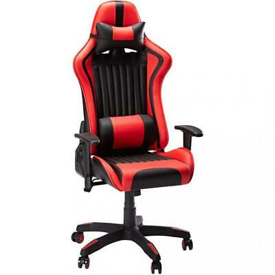 SLYPNOS Gaming Chair, High-Back Ergonomic Tilt Racing Chair Leather...