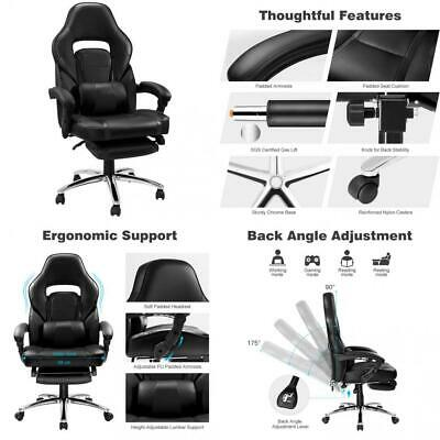 LANGRIA High Back Racing Style Faux Leather Executive Computer Gaming Office...