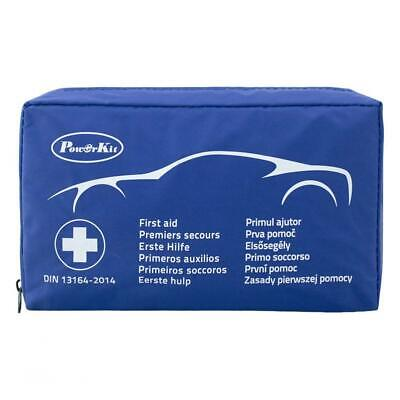 PowerKit® Vehicle First Aid Kits Bag - Compliant to DIN13164-2014 Blue