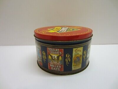 Vtg 1983 Pure Quaker Oats Advertising Tin Canister Collectible Limited Ed Recipe