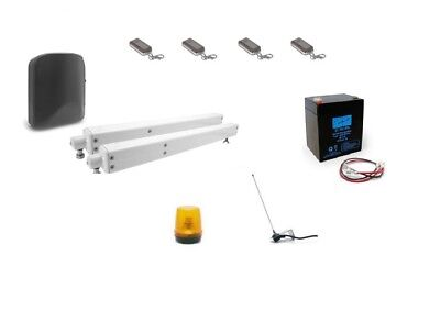 Automatic Gate Opener V200 Silver with Rechargeable Battery, Antenna, 4 remotes!