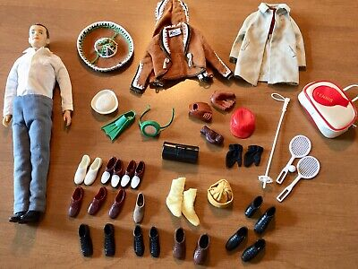 Vintage 1960's Barbie Ken Doll Lot-Clothes, Shoes, Accys, Ken In Mexico